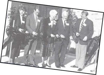 Ribbon cutting 1993